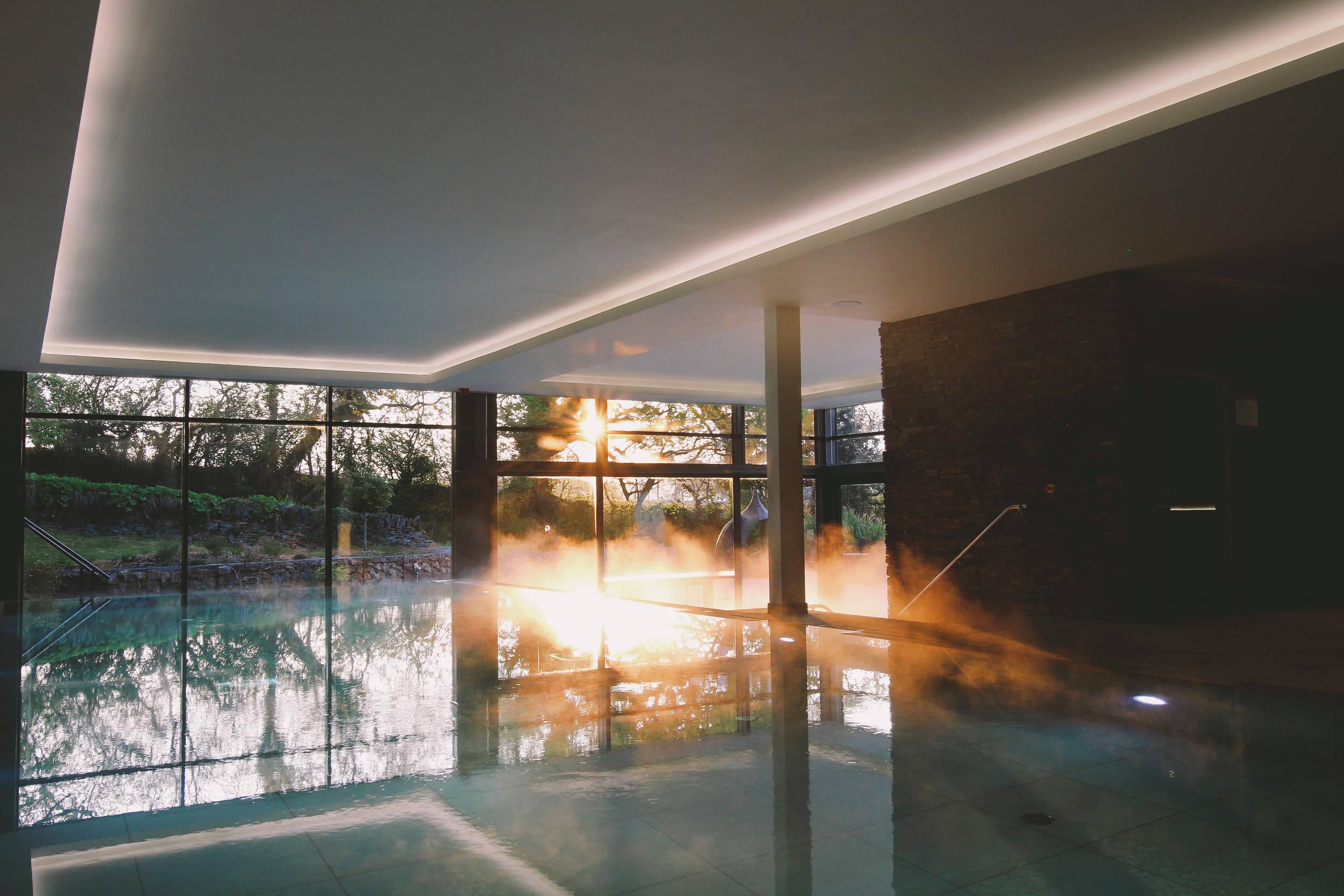Pool at Gaia Spa at Boringdon Hall
